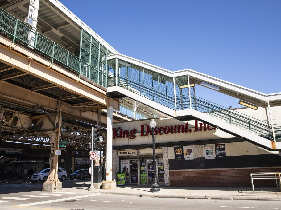 King Discount near the CTA's King Drive Station at 63rd Street and King Drive | Ashlee Rezin/Sun-Times