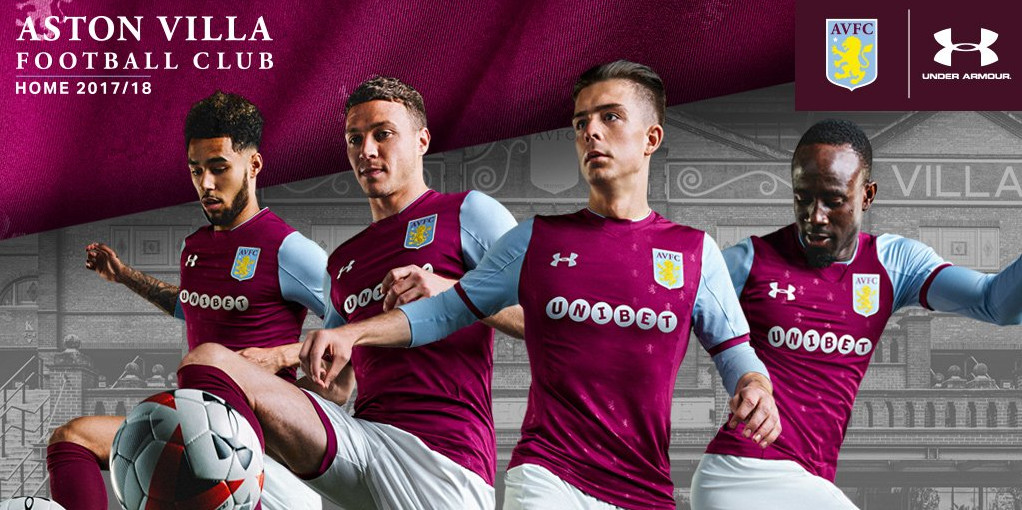 Aston Villa Unveil New Kits For 17 18 Season 7500 To Holte