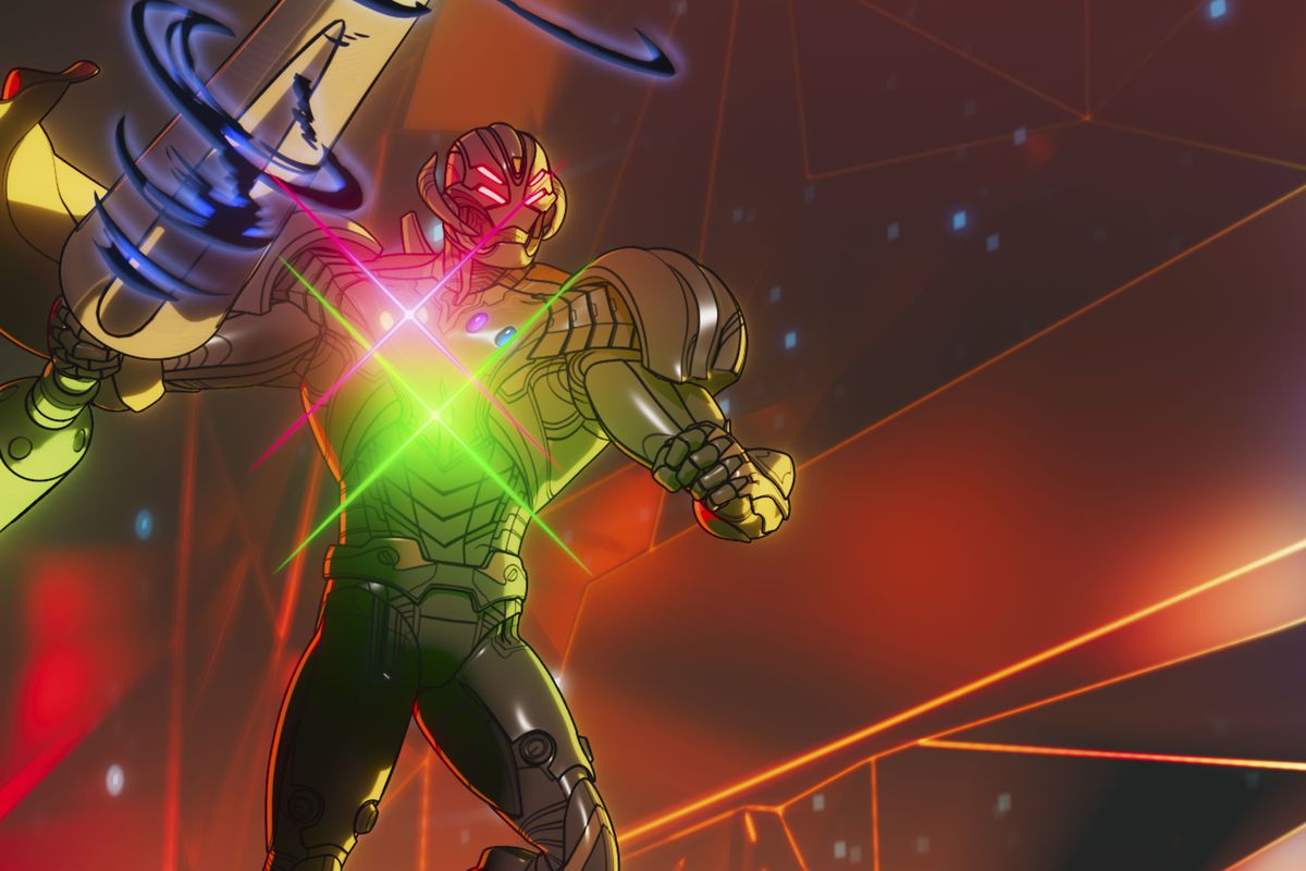"""Infinity Ultron in What If...?"""" on Disney+."""