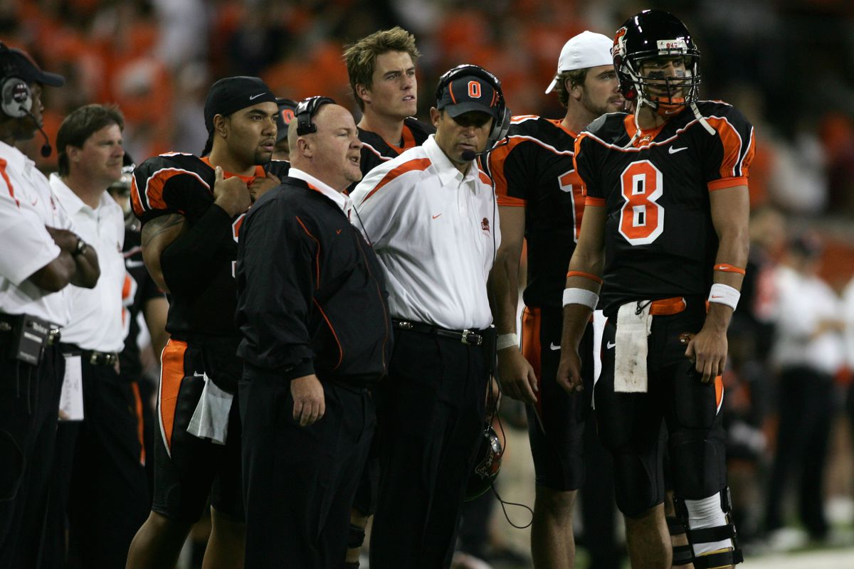 Cavanaugh with Riley at Oregon State