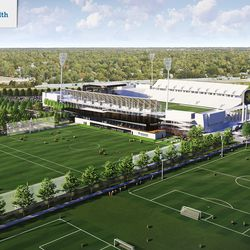 The facility will have multiple grass and turf fields to be used by the First Team and Academy