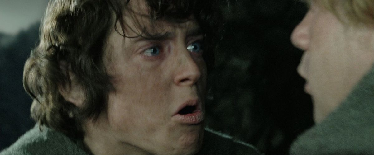 Frodo yells at Sam in The Return of the King