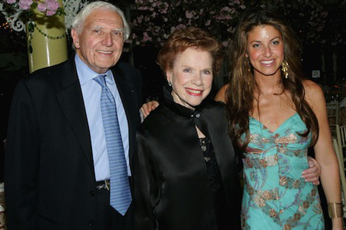 Marvin with his wife, Lee, and Dylan Lauren. Photo via Getty Images