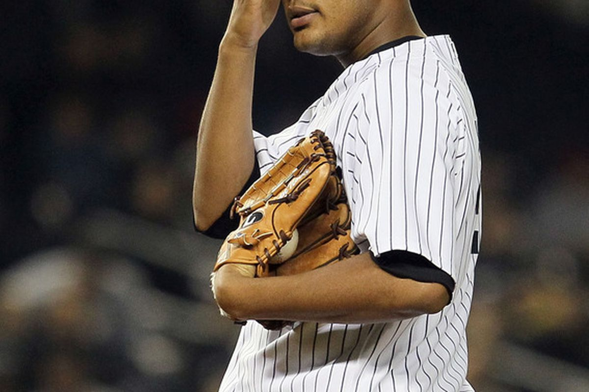 NEW YORK, NY - MAY 02:  Ivan Nova #47 of the New York Yankees stands on the mound during the game against the Baltimore Orioles at Yankee Stadium on May 2, 2012  in the Bronx borough of New York City.  (Photo by Jim McIsaac/Getty Images)