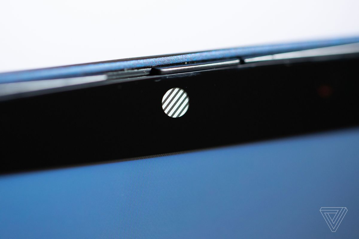 The HP Elite Dragonfly's webcam and privacy shutter.