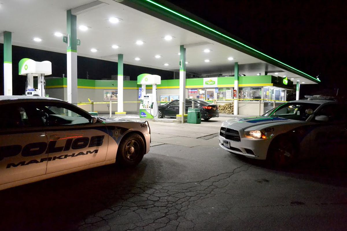 Two people were shot at a gas station in Markham on March 14.   Justin Jackson/Chicago Sun-Times