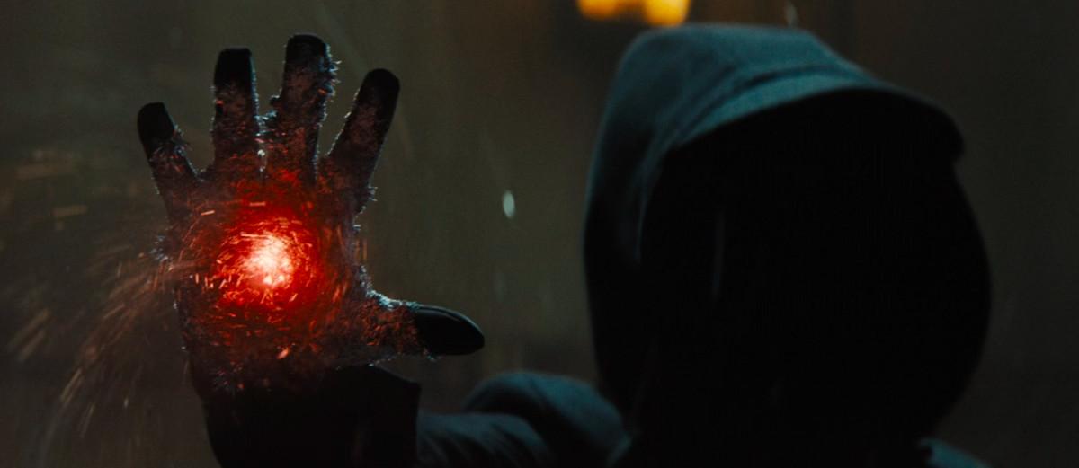 artemis fowl shadow villain raises a right hand to perform magic