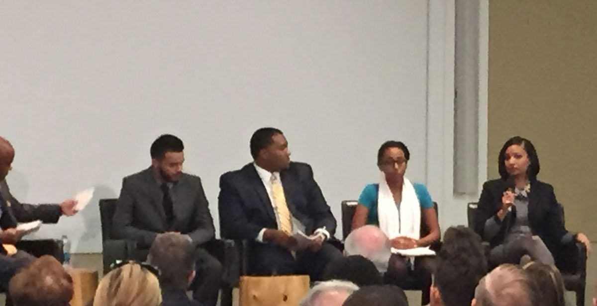 Part of the mayor's panel on race, held at History Colorado.