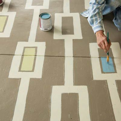How To Paint A Colorful Carpet On Your Porch Floor This