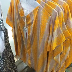 Patterned tunic, $95