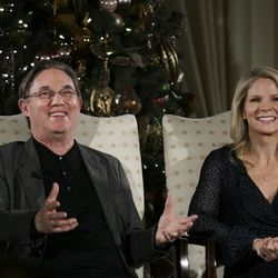 Renowned actor Richard Thomas and Kelli O'Hara — acclaimed singer and actress — talk about the 2019 Christmas with The Tabernacle Choir concert in Salt Lake City on Thursday, Dec. 12, 2019. The Tabernacle Choir at Temple Square, Orchestra at Temple Square and Bells on Temple Square will perform their annual Christmas concerts in the Conference Center on Temple Square in Salt Lake City on Thursday, Friday, and Saturday, Dec. 12–14, 2019, at 8:00 p.m.