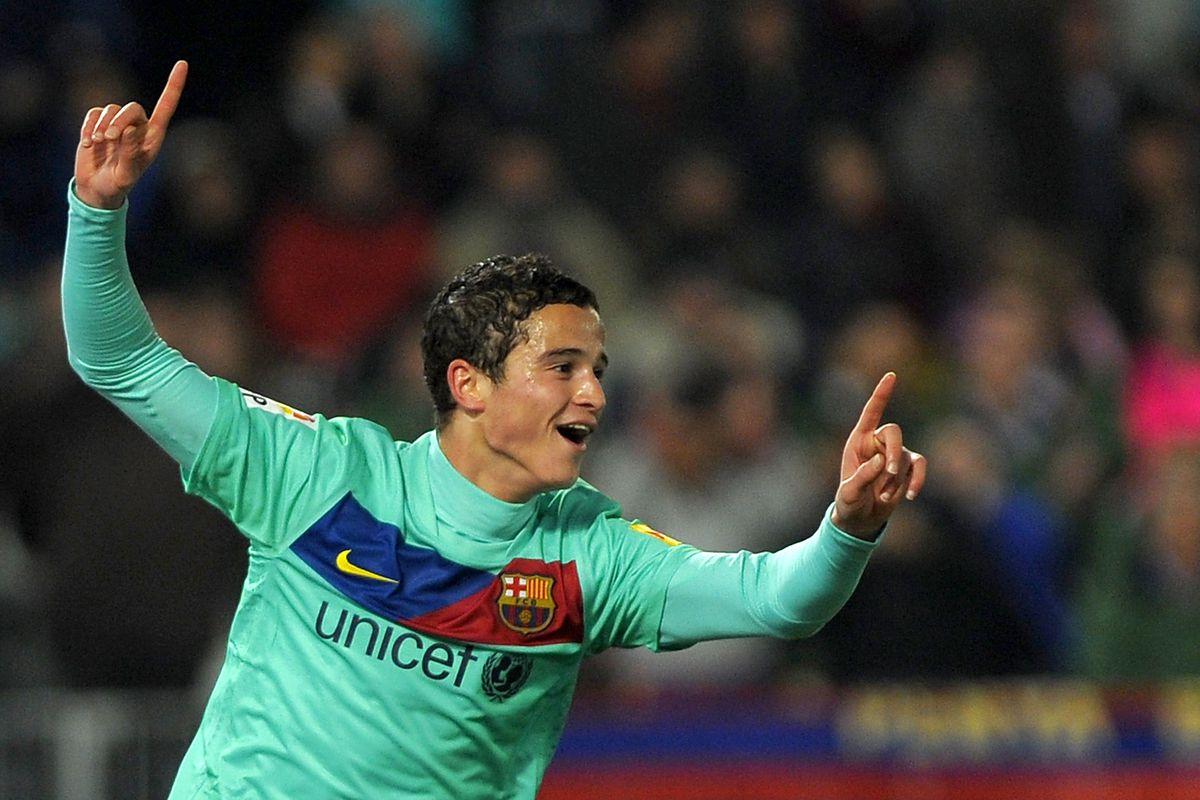 Barcelona's Dutch midfielder Ibrahim Afe