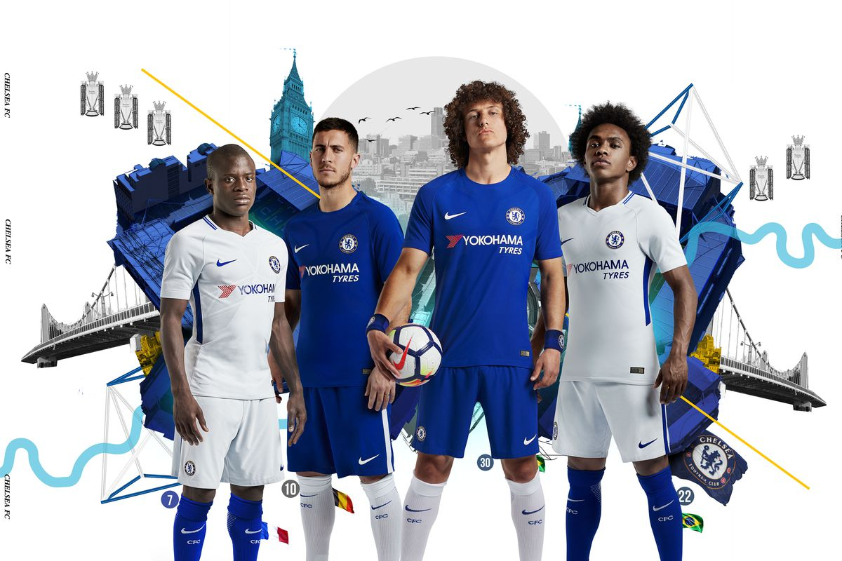 Chelsea unveil gorgeous new Nike kits for 2017-18 season - We Ain t ... a21ca4da1