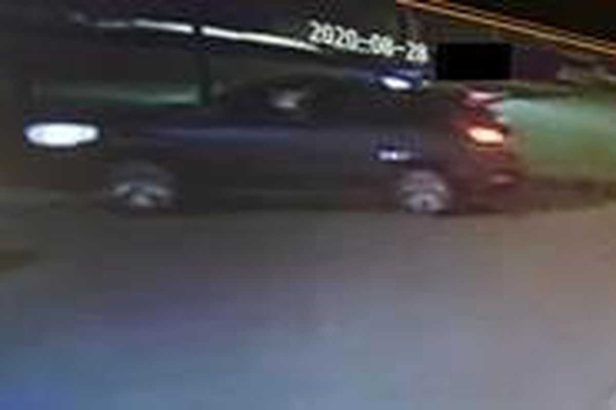 Surveillance image of a dark-colored SUV possibly involved in the Aug. 28, 2020, shooting of a 15-year-old boy in Waukegan.