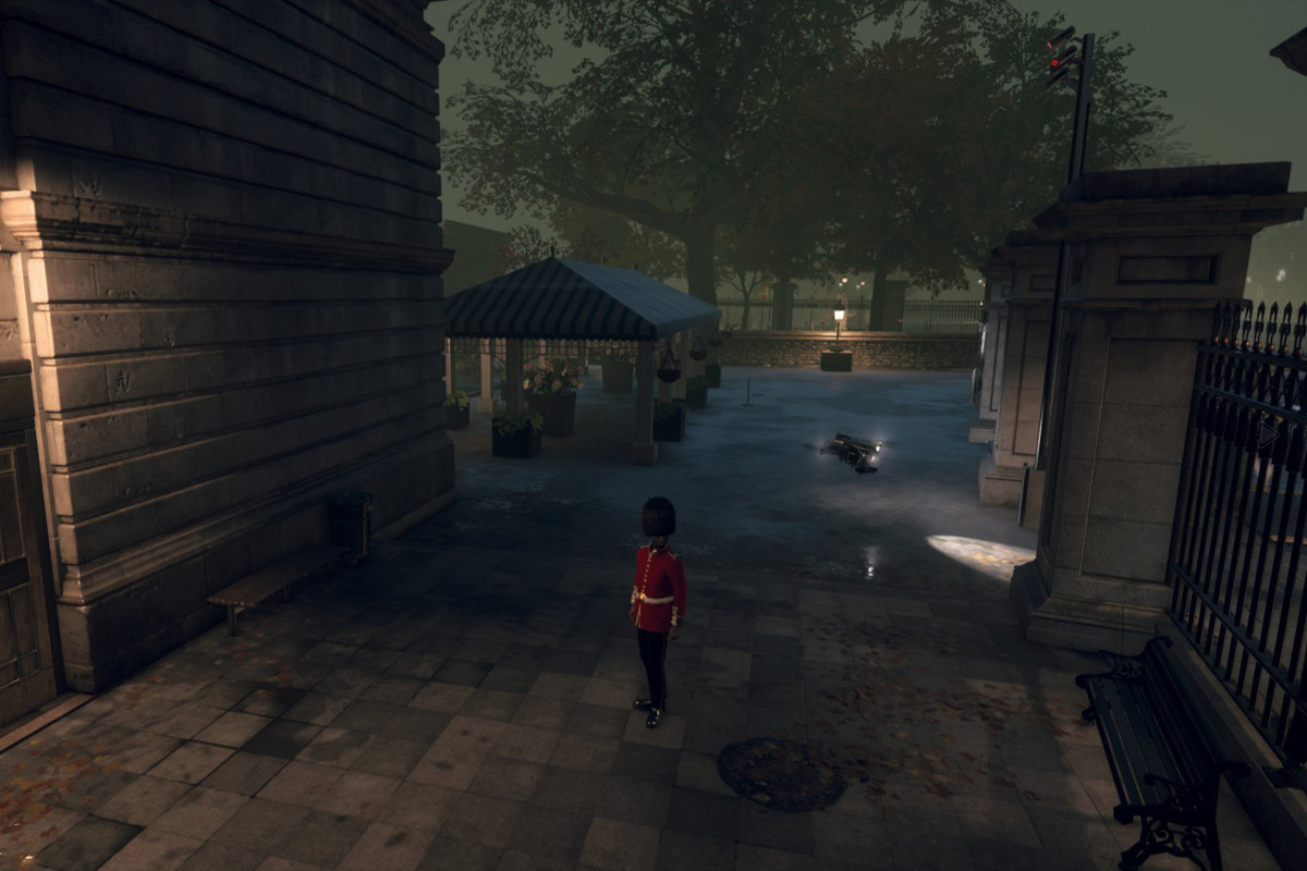 A Royal Guard in Watch Dogs Legion gets the The Royal Tour Restricted Area Achievement / Trophy