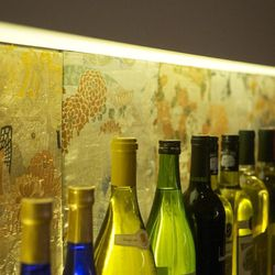 The bar's backsplash is made from Gi, the belts that hold a kimono together