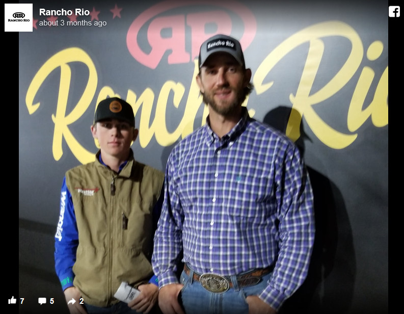 Madison Bumgarner at a rodeo, pictured with fan