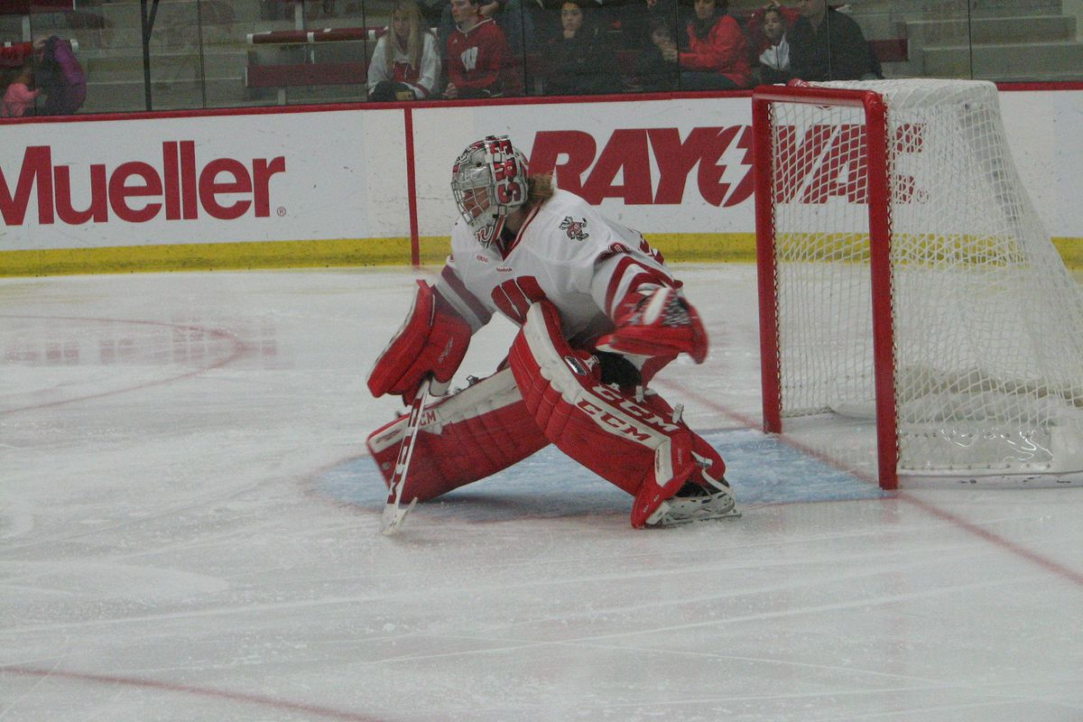 Badger goalie Ann-Renee Desbiens has stopped all 110 shots faced in her last seven appearances.