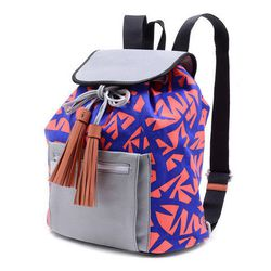 """Meredith Wendell teamed up with graphic designers the Ames Bros for this back-brightener. For luxury AND for fun. <a href=""""https://meredithwendell.myshopify.com/collections/bags?page=1"""">Ames Bros vs. MW Backpack</a>, $395."""