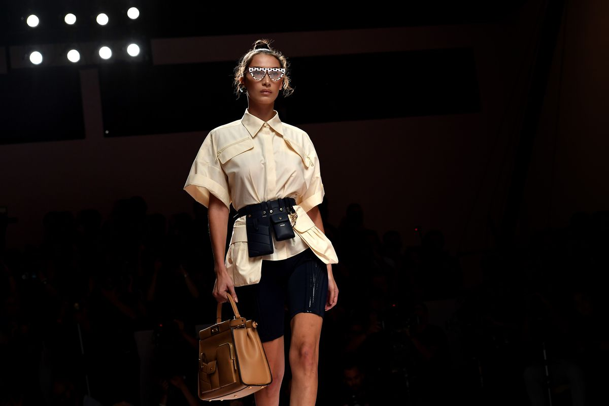 e3a397937f Bella Hadid walks the Milan Fashion Week runway at Fendi on September 20