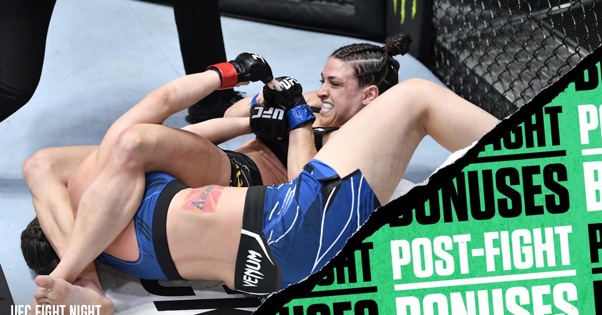 Photo of UFC Vegas 23 post-fight bonuses: Mackenzie Dern armbars Nina Nunes | Stephie Haynes