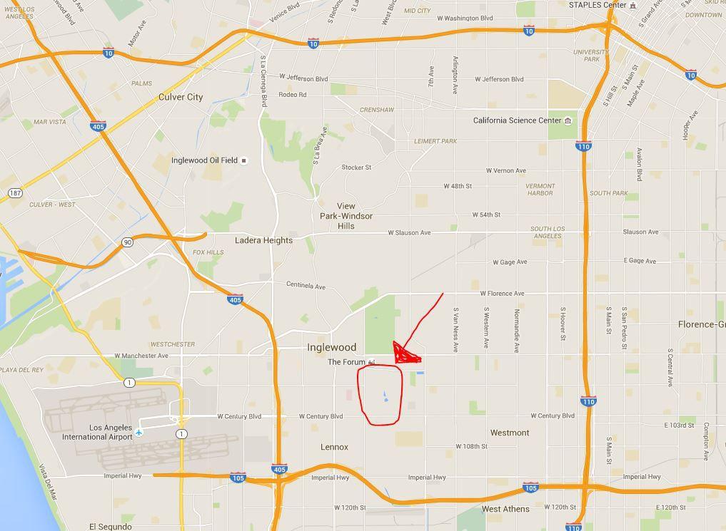 Inglewood stadium zoom in