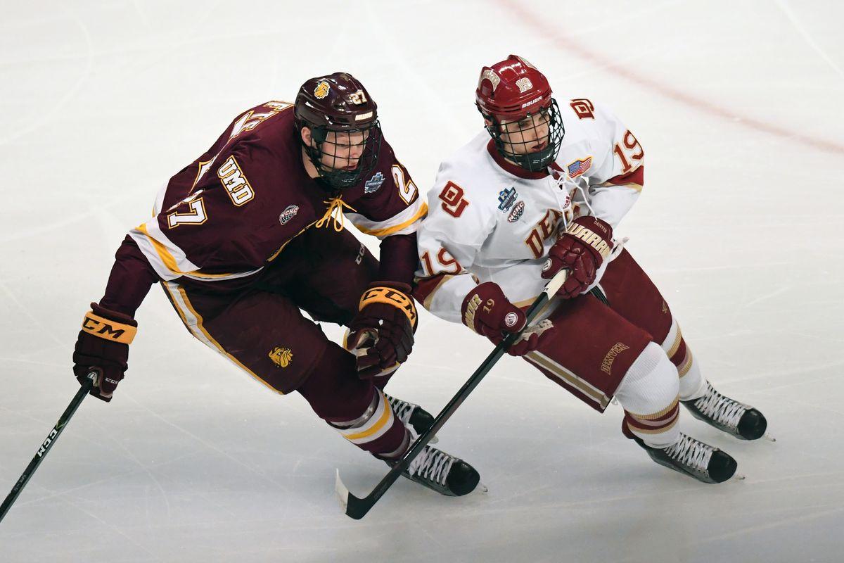 NCAA HOCKEY: APR 08 Frozen Four Final - Minnesota-Duluth v Denver