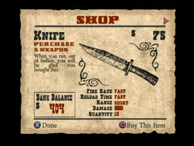 Red Dead Revolver shop