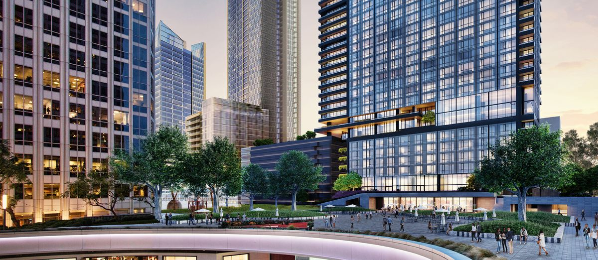 Rendering of new tower behind FigAt7th