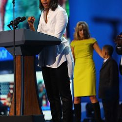 MObama in Alexander McQueen at the 2013 Kids' Inaugural Concert