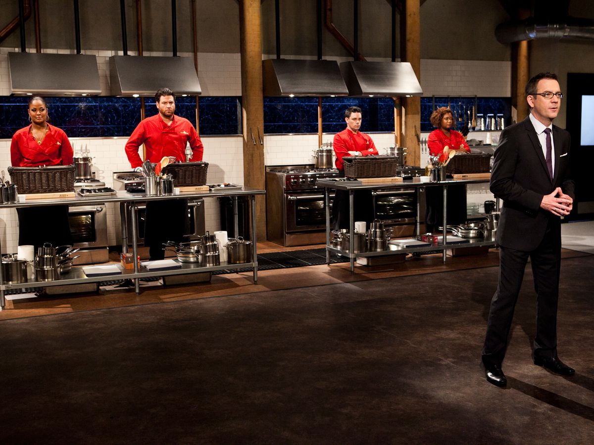 A scene from Food Network's Chopped.