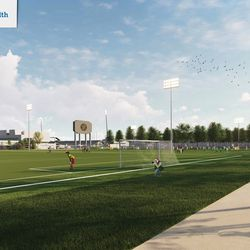 The complex is part of the new City of Columbus community sports park
