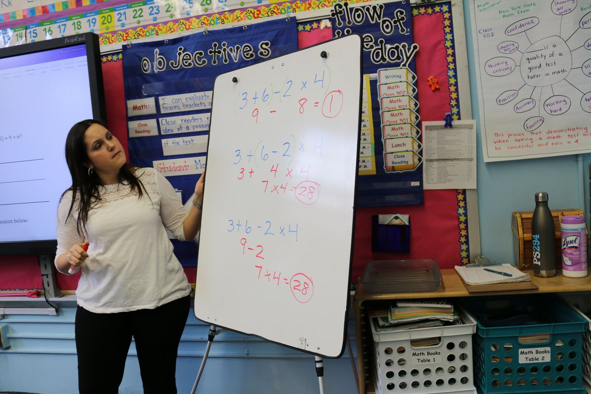 Nicole Lent is a math coach at P.S. 294, which has departmentalized the subject.