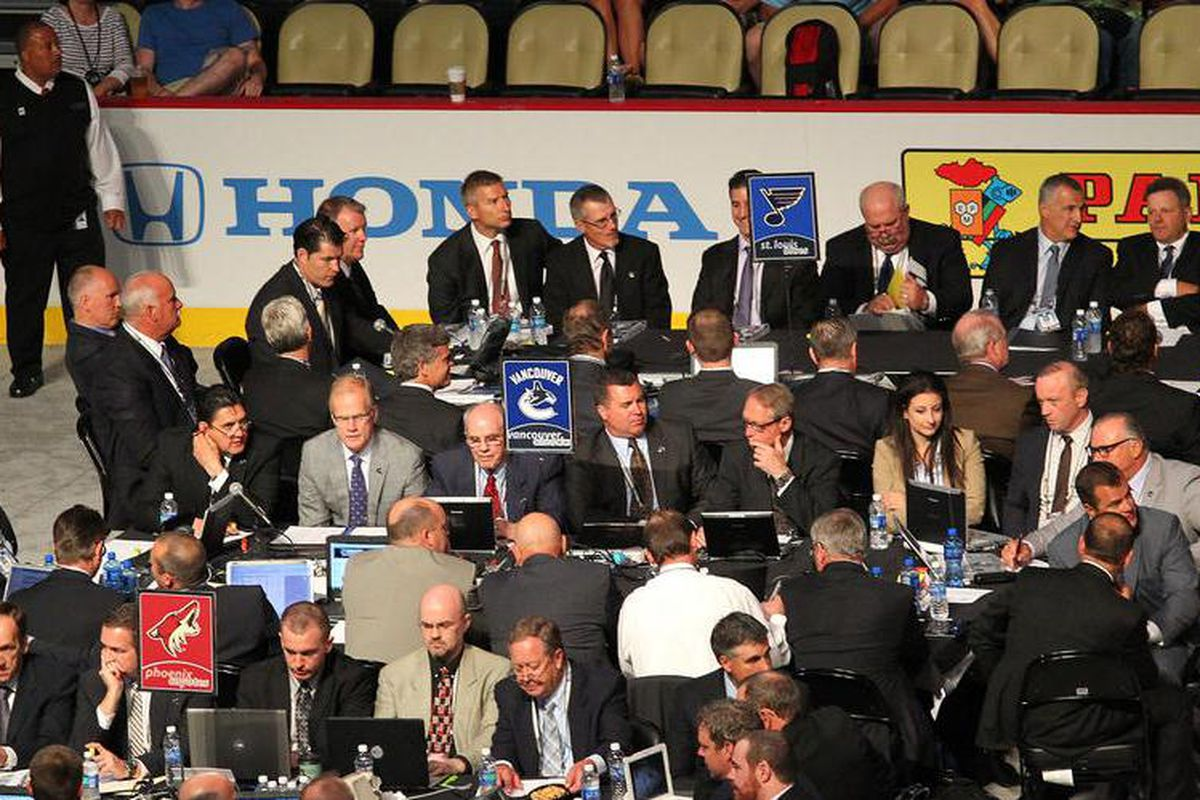 The Armstrongs, Ville Siren, Mike Antonovich, Al MacInnis and the rest of the Blues' player personnel braintrust will be earning their salaries today at the NHL Entry Draft.