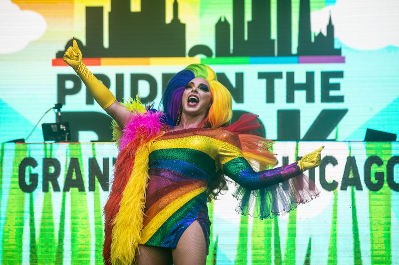 Alyssa Edwards performs at Pride in the Park in Grant Park, Saturday afternoon, June 26, 2021.
