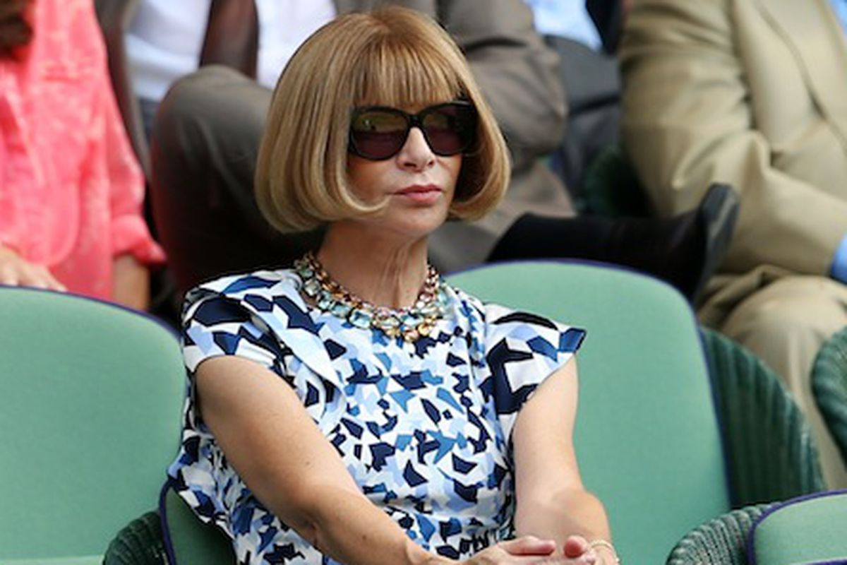 Wintour Wimbledonning via Getty