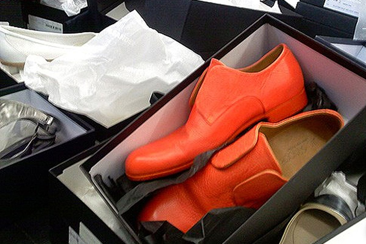 """Orange oxfords for under $50 at last October's <a href=""""http://ny.racked.com/archives/2011/10/19/jil_sanders_does_you_one_better_with_85_off_most_items.php"""">sale</a>"""