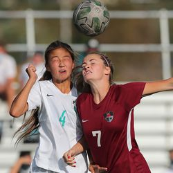 Farmington and Viewmont girls battle to a 1-1 tie at the end of regulation playin Bountiful on Tuesday, Sept. 22, 2020. Farmington went on to advance with a 3-1 win in penalty kicks.