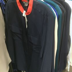Navy blouse, $79 (was $265)