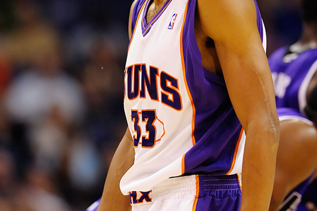 Grant Hill was not pleased after getting two quick technical fouls and the ejection about half way through the 3rd period of the Suns vs Kings preseason game. (Photo by Max Simbron)