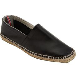 """<strong>Castaner</strong> Leather Pablo Slip-On in Black, <a href=""""http://www.barneys.com/on/demandware.store/Sites-BNY-Site/default/Product-Show?pid=502486607&cgid=men&index=2"""">$180</a> at Barney's"""