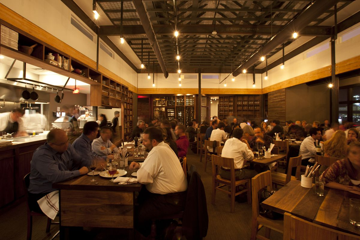 The dining room at Underbelly.