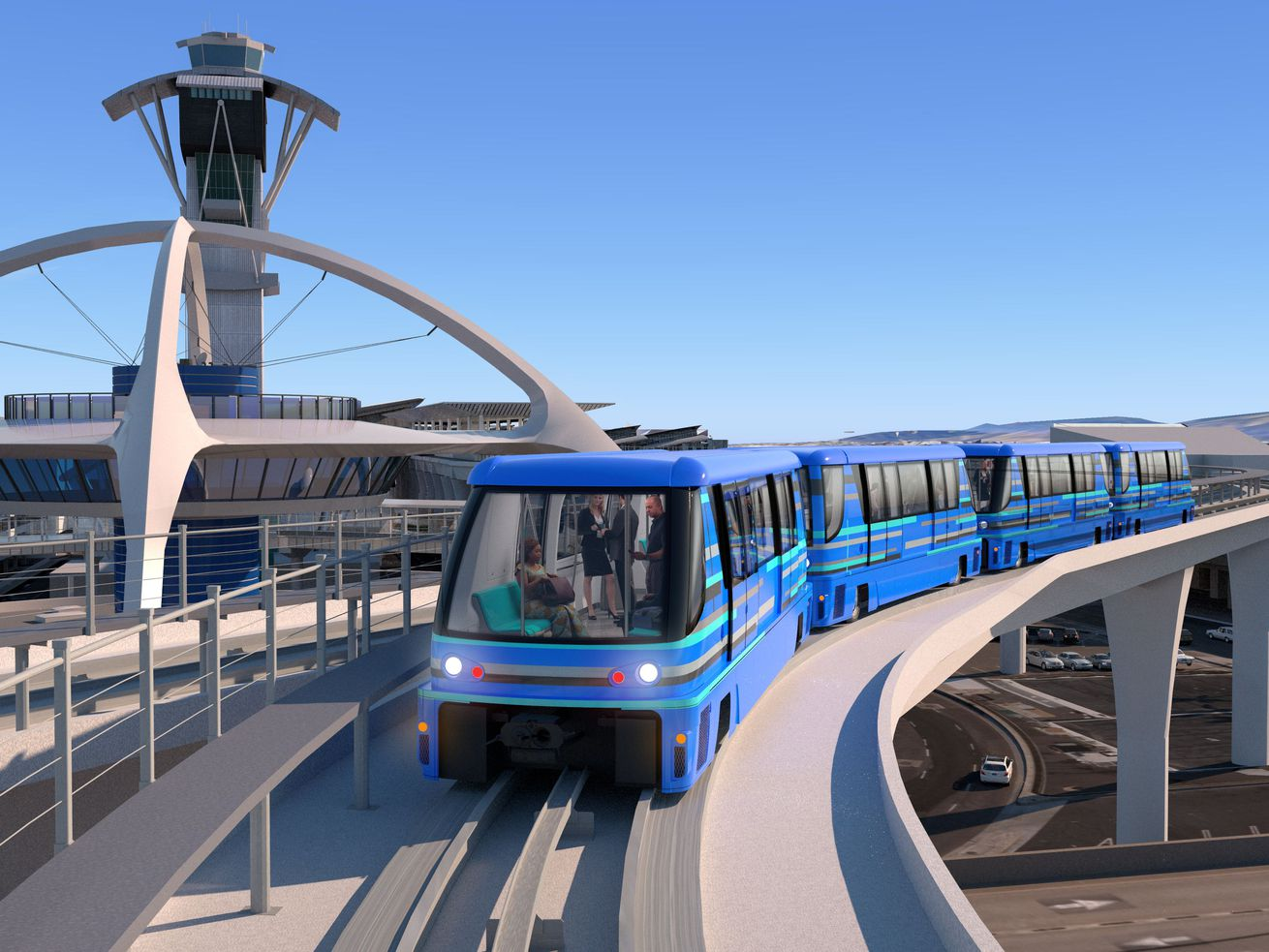 The free people mover would connect LAX terminals to Metro's Crenshaw/LAX Line as well as a forthcoming rental car facility.