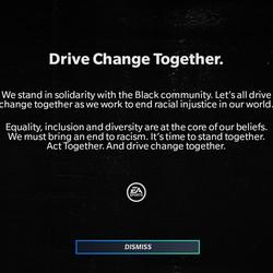 A ninth splash screen in <em>Madden NFL 21</em> expressing an anti-racism message.