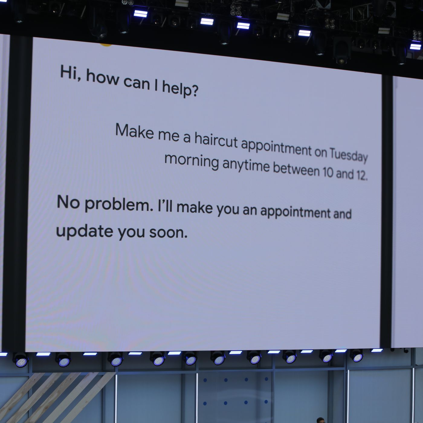 Google just gave a stunning demo of Assistant making an actual phone