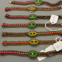 Evil Eye bracelets, $75
