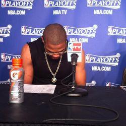 Westbrook's Rockets game 1 attire