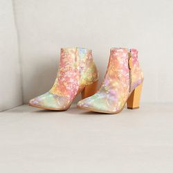 """<strong>Miista</strong> Galaxy Inlay Booties, <a href=""""http://www.anthropologie.com/anthro/product/shoes-viewall/26420000.jsp?cm_sp=Grid-_-26420000-_-Large_19"""">$168</a> at Anthropologie"""