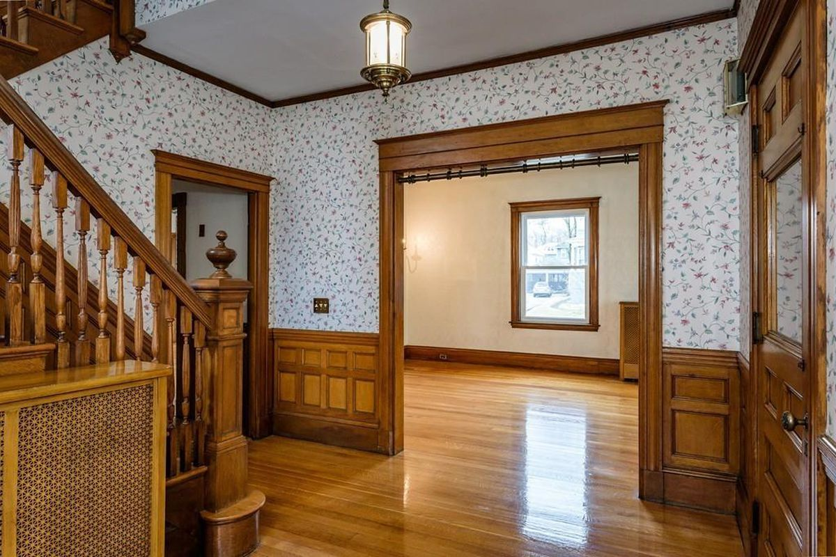 West Roxbury Queen Anne Features Original Pocket Doors