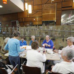 Seniors eat lunch at Millcreek Senior Center in Salt Lake City Wednesday, May 21, 2014.